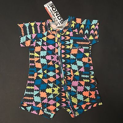 BONDS Baby Boy WONDERSUIT Zippy Romper ARROWS Size 000 0-3 Mth RRP$19.95