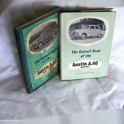 Cassell Book of the AUSTIN ... A30 ... A40 ... TWO books ... motor car manual