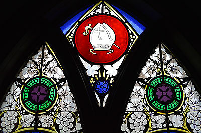 Antique Stained Glass Church Window 1850's LIMITED TIME OFFER 2 FOR $4000.