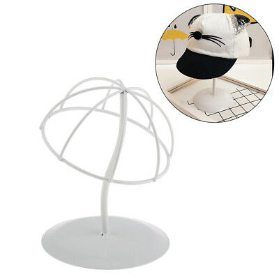KE_ White Stable Durable Iron Wig Hair Rack Hat Holder Display Stand S/M/L Ser