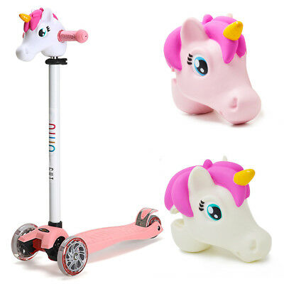 KE_ Cartoon Unicorn Horse Head Attachment Kids Child T-Bar Scooter Accessory S