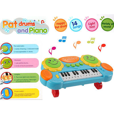 KE_ Baby Kids Music Instrument Keyboard Piano Sound Educational Toy w/ Light L