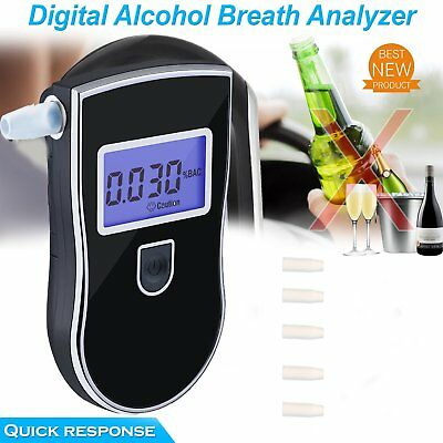 Professional Police Breath-Alcohol Tester LCD Digital Breathalyser UK Stock