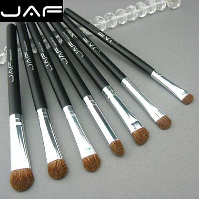 JAF 7PCS/SET Makeup Brushes Set Wooden Handle Pony Hair Makeup Cosmetic Brush TY