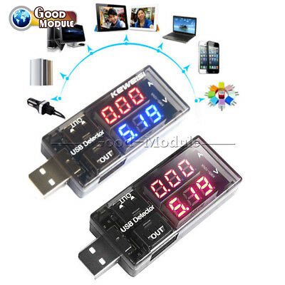 2//5//10PCS USB Charger Doctor Current Voltage Meter Battery Tester Power Detector