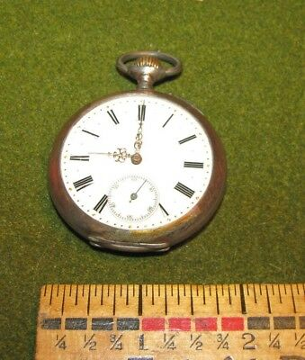 Antique 19th Century Rare Avance Retard Pocket Watch Silver Hallmarked Works