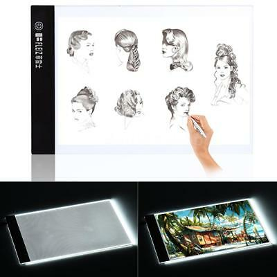 A4 5mm LED Light Box Stenciling Tracing Copy Board Artist Drawing Pad Table T5H0