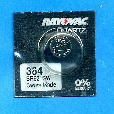 2 x 364 SR621SW V364 D364 1.55V Silver Oxide Watch Batteries Cell Rayovac