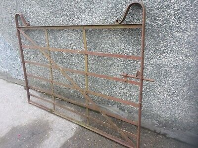 Antique Farm Gate, Blacksmith Made, Riveted Flat Bar