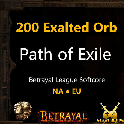Path of Exile PoE Currency 10 x Exalted Orb Incursion League Softcore SC EU/ NA