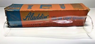 Antique Boxed Aladdin Lox-On Lamp Chimney / Shade   Pyrex Replacement, Add On