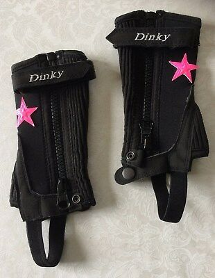 Childs riding chaps - Just Chaps - PINK STAR - Age 2-4