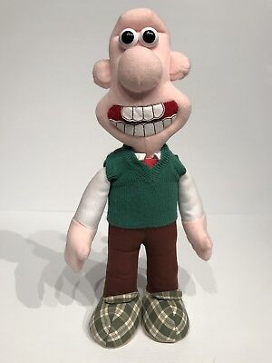 "Wallace and Gromit 15"" Plush Toy Stuffed Animal Wallace EUC"