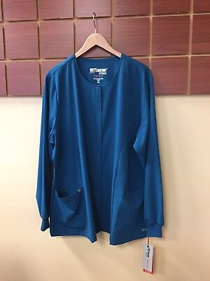 NEW Lot Of 5 2XL Solid Scrub Jackets With Grey's Anatomy & Wink HP NWT