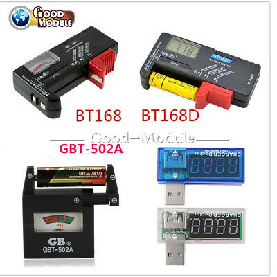 Universal AA AAA C D 9V 1.5V Button Cell Battery Volt Test Checker Indicator