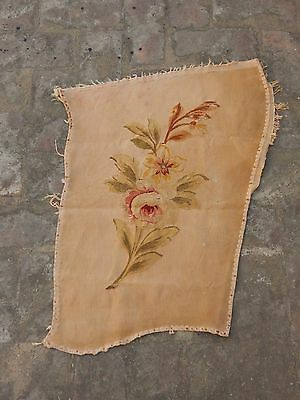 Antique 19thC French Beautiful Hand Woven Aubusson Tapestry 65x51cm (A1178)