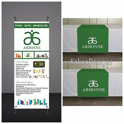 Arbonne - Vendor Show Set - Printed -Banner  and Table runner