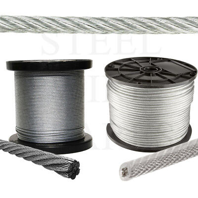 Stainless Steel Balustrade Galvanised Coated Wire Rope Metal Cable PVC Gym Cable