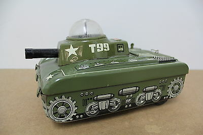 GAMA Germany Panzer Tank T99 Battery Antique old Tin Blech Box