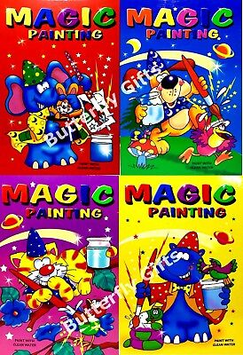 4 x A5 Magic Paint book Water Painting Colouring Book Kids Party Bag £2.85