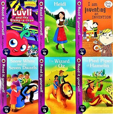 Read it Yourself with Ladybird Level 4, 9 Books Collection Brand New