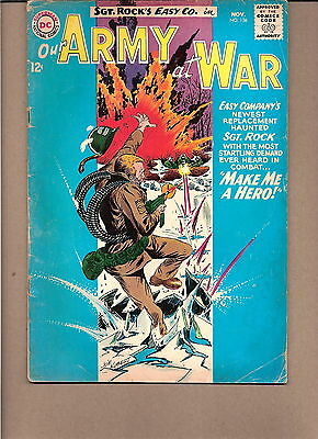 "Our Army At War  #136 1963  Dc  Vg-  ""sgt. Rock's-Easy Co.""  Kubert"