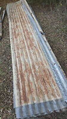 Salvaged rustic decorative corrugated sheet metal roof tin