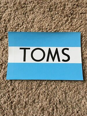 TOMS Shoes Blue and White Striped Brand Logo Decal Sticker