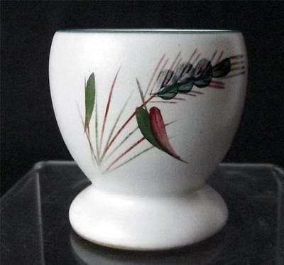Denby Pottery Greenwheat Pattern Egg Cup Hand Painted made in Stoneware
