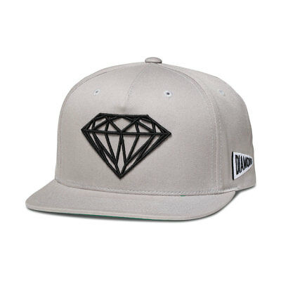 Diamond Supply Co Brilliant Men's Snapback Hat Cap Grey/Black a16dha09-htgr