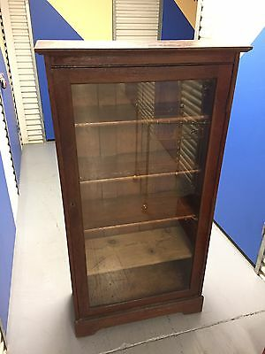 Antique Larkin Soap Co Buffalo New York Glass Bookcase Cabinet Shelf Bar