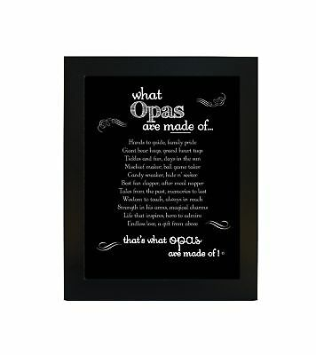 The Grandparent Gift What Opas Are Made of Sentiment Frame for Grandpa