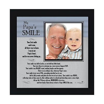 The Grandparent Gift My Papa's Smile Frame