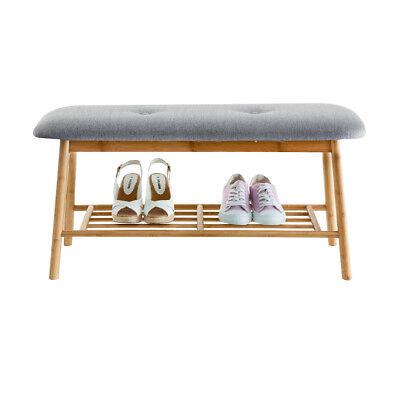 Scandi Shoe Rack Organiser Chair Stool Bench Shoes Boots Slippers Footwear