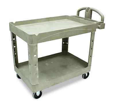 Restaurant Cart Cleaning Supply Automotive Utility Rubbermaid Beige With Wheels