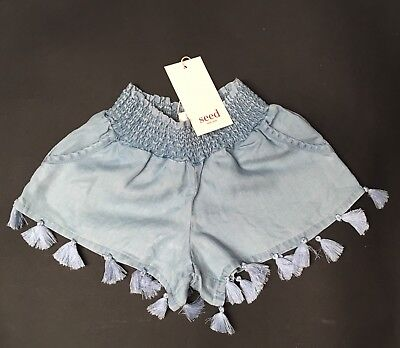 NEW Seed Heritage Girls Chambray Shorts Size 3 years old RRP$39.95 FREE POST