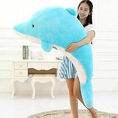 New Plush Giant Dolphin Big Large Soft Stuffed Animal Child Kids