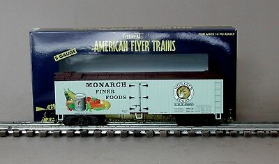 Lionel American Flyer 6-49955 Monarch Foods Wood Side Refrigerator Car