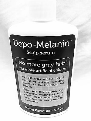 Depo Melanin - Mens Hair and Scalp Treatment No more Gray HAIR