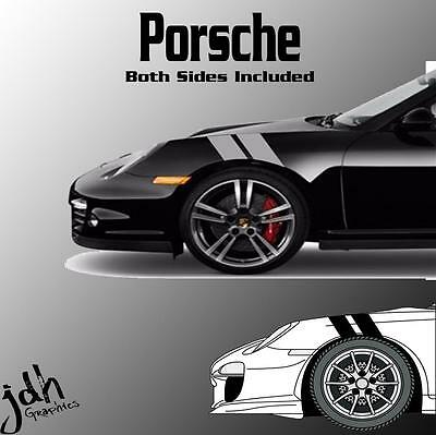 Porsche 911 Cayman Hash Mark Stripes Vinyl Decal Sticker Graphics Kit Car