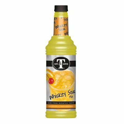 Mr. & Mrs. T Whiskey Sour Mix, 33.81-Ounce Bottles (Pack of 6)
