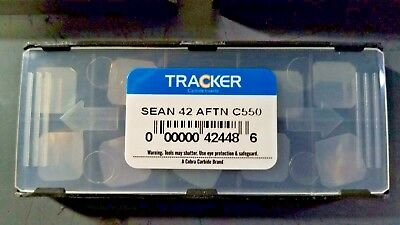 10 Pcs New SEAN 42 AFTN C550 Tracker *UNCOATED* Solid Carbide Inserts