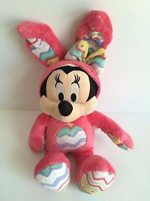 Easter Bunny Disney Store  Exclusive MINNIE MOUSE Doll Pink super plush