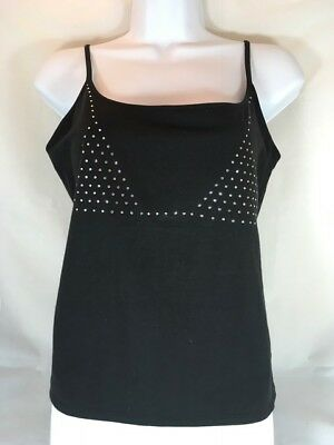 NWT Victoria's Secret Black Cami with Crystals Size Large