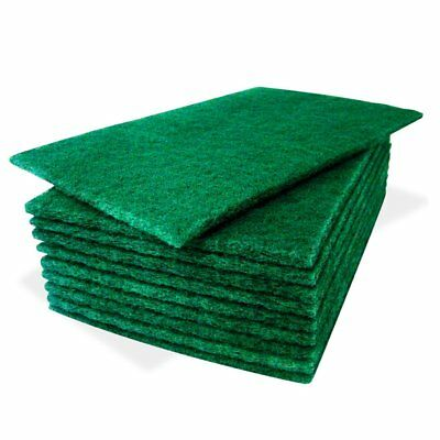 Heavy Duty Kitchen Sponge Scourer Pads, 10 Pack, Green, for Catering & Cleaning