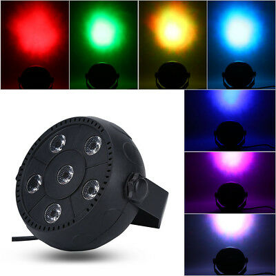 6 LED RGB PAR CAN DJ Stage DMX USB Lighting For Disco Party Wedding Uplighting