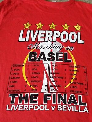 Liverpool Football Club Europa Cup Final 2016 T - Shirt *new* - Size Medium