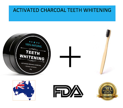 Activated Charcoal Teeth Whitening 100% Organic Coconut Shell Powder