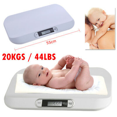 Digital Electronic Weight Scale Baby Infant Pet Midwife's Bathroom 20KGS/44LBS