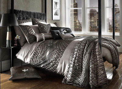 Kylie Minogue Esta Truflle Duvet Cover, Housewife Pillowcase, and Bed Throw